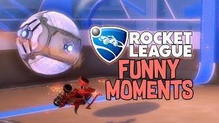 Backwards Pool Shot Turtle Goal?! | Rocket League Funny Moments