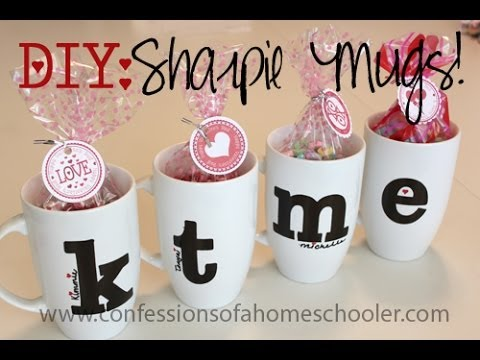 Diy Valentine S Day Sharpie Mugs Youtube