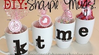 DIY Valentine's Day Sharpie Mugs Thumbnail
