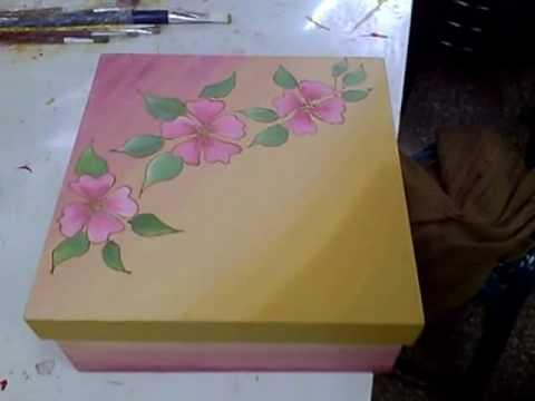 Manualidades pintura en madera youtube - Manualidades pintar caja metal ...