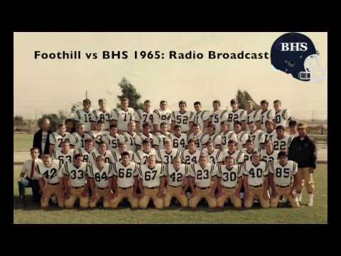 1965 Football Foothill vs BHS Radio Broadcast