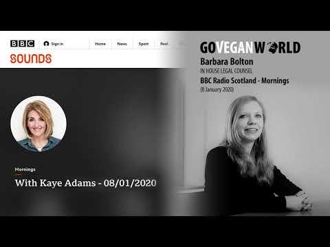 Is Vegan Fast Food A Good Thing? BBC Radio Scotland – The Mornings Programme, Kaye Adams, 08.01.2020