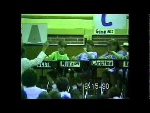 Academic Bowl at Washington Street Elementary School 1990