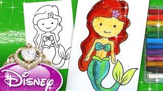 Как нарисовать АРИЭЛЬ - Принцесса Дисния Русалочка