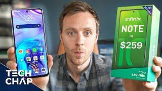 Infinix Note 10Pro-大規模な6.95インチ90hz電話が259ドル!