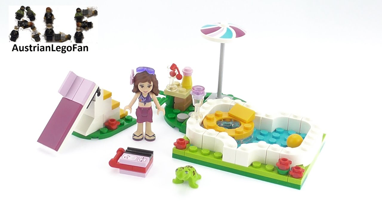Lego Friends Olivia's Zwembad 41090 Lego Friends 41090 Olivias Garden Pool Lego Speed Build