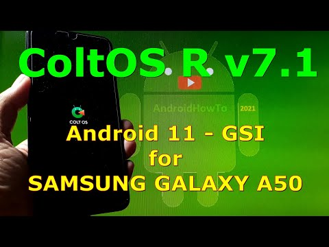 ColtOS R v7.1 Android 11 for Samsung Galaxy A50 - Custom ROM