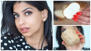 3 {EASY} Ways to get BRIGHT, EVEN skin...FAST...using a Potato?!!!