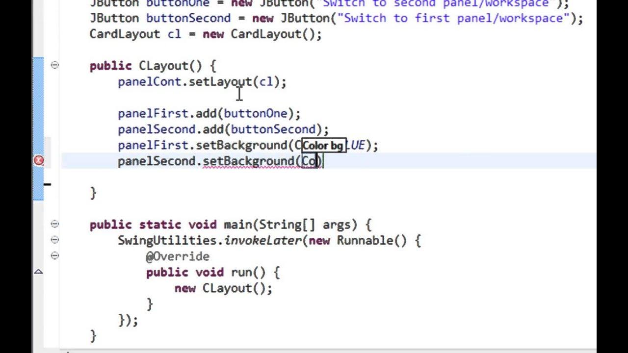 Java Swing Gui Tutorial 18 Cardlayout Youtube