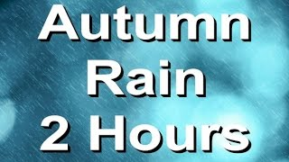 Rain Sounds : The Relaxing Nature Sound of Rain in Autumn. 2 Hours Long