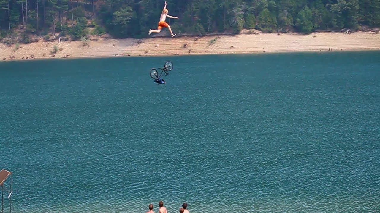 Biggest Lake Bike Jump Ever Worthless Films Youtube