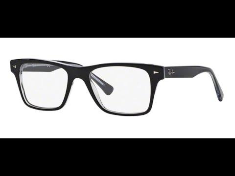 568b0de0e2 Ray Ban RX5308 Eyeglasses 2034 TOP BLACK ON TRANSPARENT - YouTube