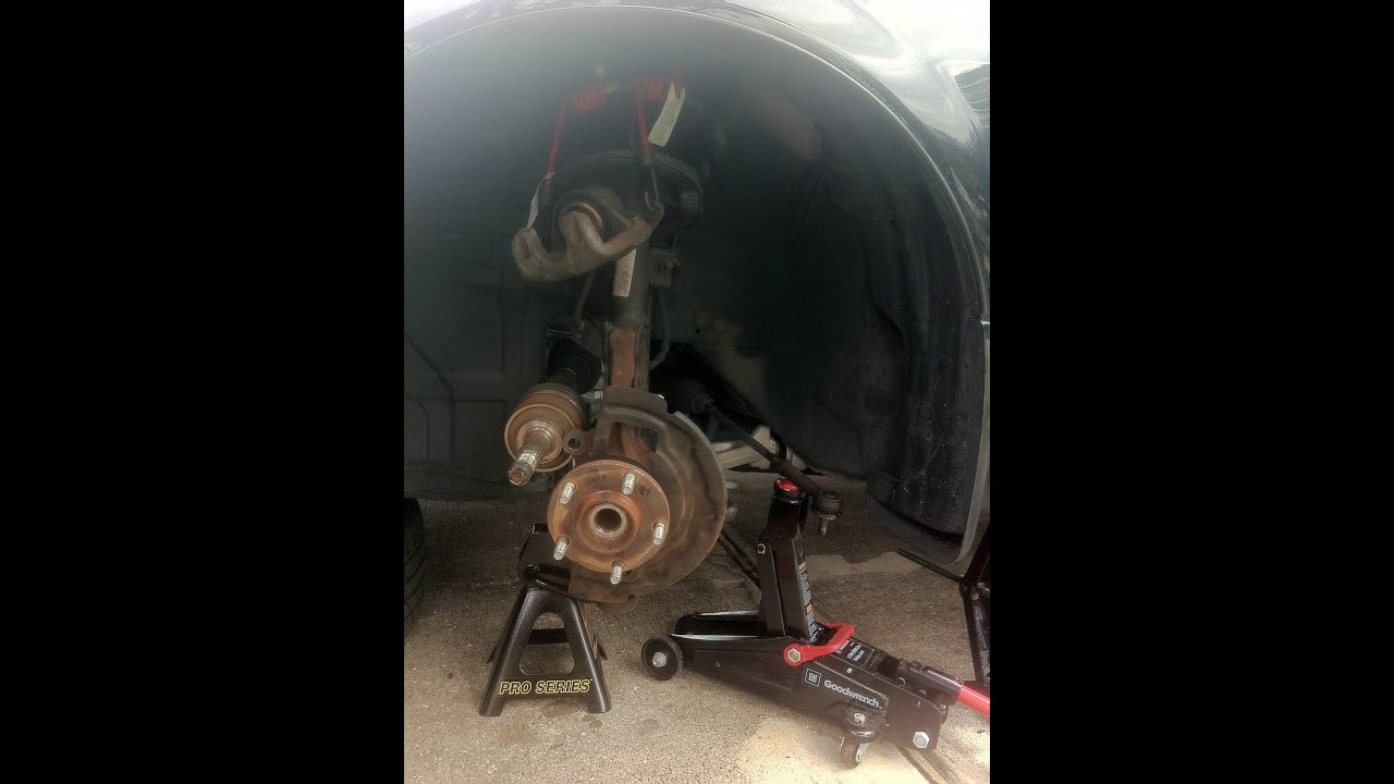2006 Nissan Altima 25S Front Wheel Bearing Removal  YouTube