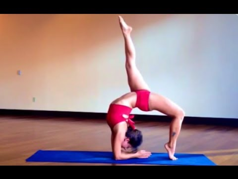 hollowback extended wheel to hollowback scorpion yoga