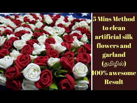 Easy method to clean artificial silk flowers   Best ,fast and effective way.