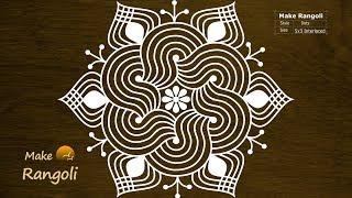 Padi Kolam with 5x3 dots | Margazhi Kolam | Dhanurmasam Muggulu | Make Rangoli