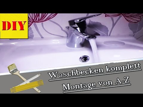 waschbecken mit siphon installieren montieren von ingo der heimwerker youtube. Black Bedroom Furniture Sets. Home Design Ideas