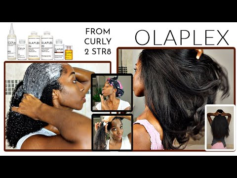 I TRIED the ENTIRE #OLAPLEX LINE on my Type 4 Natural Hair | From CURLY to STRAIGHT | Full ROUTINE