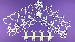 Paper Christmas craft ideas to make ❄ DIY decorations Garlands and Snowflakes