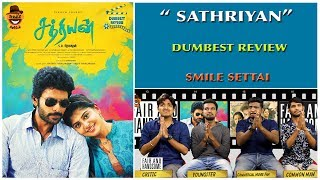 Sathriyan Movie Reivew   Dumbest Review   Vikram Prabhu, Majima Mohan Smile Settai