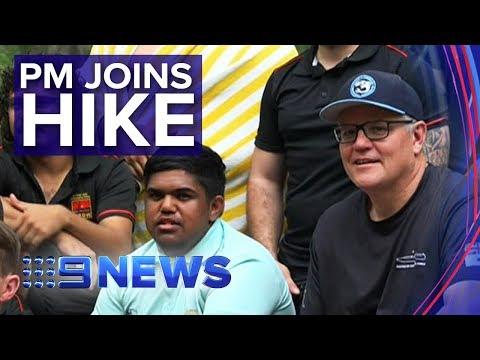 Scott Morrison hikes for Indigenous charity   Nine News Australia