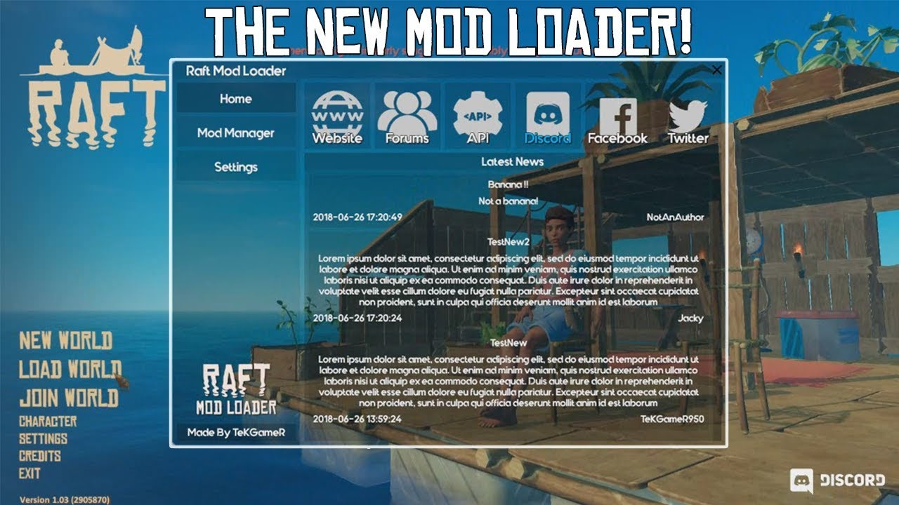 The NEW RAFT Mod Loader 3 1! (Raft Modding) - Raft (OUTDATED)
