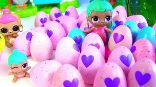 Яйца с Сюрпризом и Семейка Куклы Лол Сюрприз! Мультик Lol Families Surprise Dolls! Hatchimals