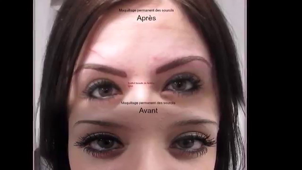"Super Maquillage permanente des sourcils ""poil à poil "" - YouTube OH31"