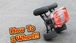 HOW TO Drive an RC CAR on 2 Wheels. Traxxas X-Maxx, HPI SAVAGE etc