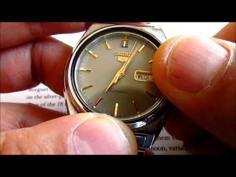 Seiko 5 vintage men's wristwatch 17 Jewels automatic calibre 7009