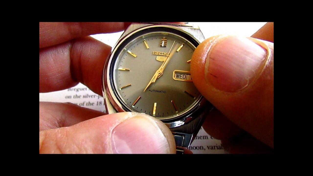 Seiko 5 Vintage Mens Wristwatch 17 Jewels Automatic Calibre 7009 Jam Tangan Analog Rhombus Dial Plate Woman Black Youtube