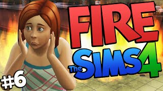 Sims 4 - FIRE!!! Burning down the House on The Sims 4 (Sims 4 Funny Moments) #6