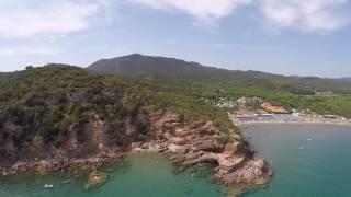 Rocchette Beach CASTIGLIONE DELLA PESCAIA terra di Maremma DRONE