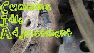 Dodge Ram Cummins Diesel Idle Adjustment (Easy!)