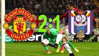 манчестер ЮН 2:1 Андерлехт  HD обзор ответного матча 1/4 Лиги Европы