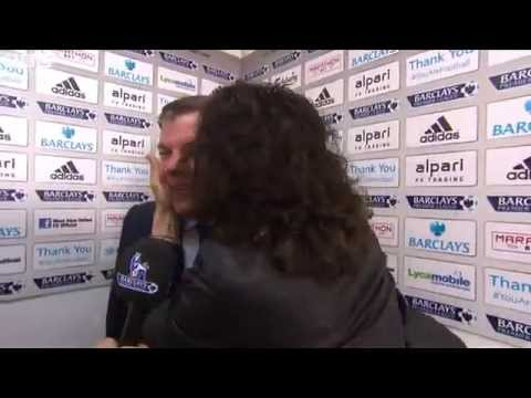 Russell Brand Kisses Sam Allardyce - West Ham 2-1 Manchester City