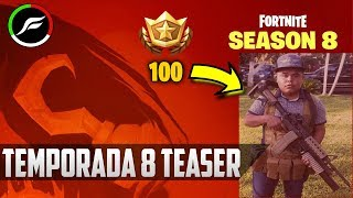 SEASON 8 - FORTNITE BATTLE ROYALE (SKIN LEVEL 100)