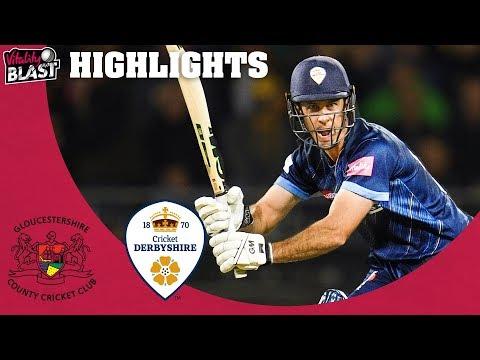 Madsen Shines in Last QF | Gloucestershire v Derbyshire - Highlights | Vitality Blast 2019