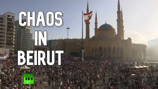 Lebanese protesters call for govt to resign over Beirut explosions