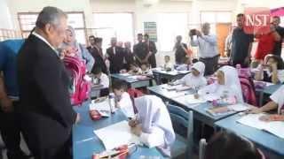 Muhyiddin visits Sekolah Kebangsaan Cyberjaya