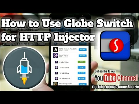 How to Use Globe Switch for HTTP Injector Globe/TM (Consumable FreeNet)