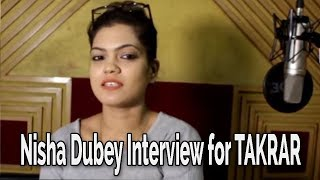Nisha Dubey Interview for upcoming Bhojpuri Song Recording for TAKRAR