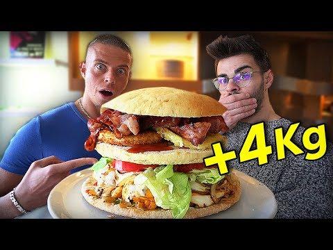 UN BURGER DE 4 KG À 10'000 CALORIES !! (feat. aLaN92 FoodChallenge)
