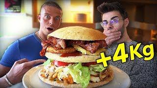 UN BURGER DE 4 KG A 10願 CALORIES !! (feat. Alan FoodChallenge)