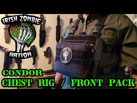 Budget Chest Rig/Front Pack - Condor MCR3 Modular Chest Panel and T&T Pouch