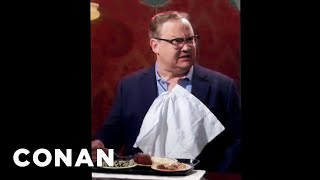 Andy Richter's Dinner Was Ruined By Protesters  - CONAN on TBS
