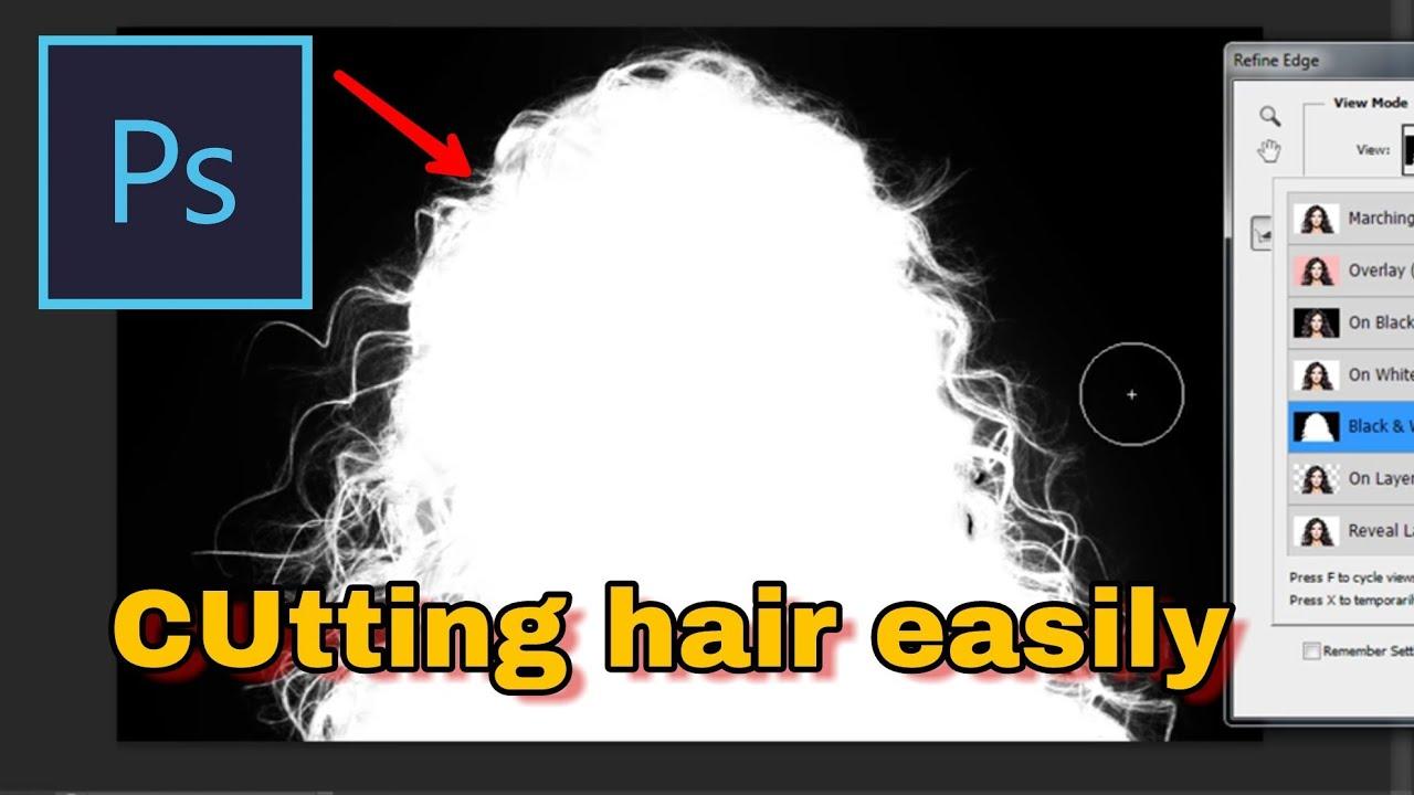 Cutting Hair in Photoshop CS11 [ Fast & Easy ]