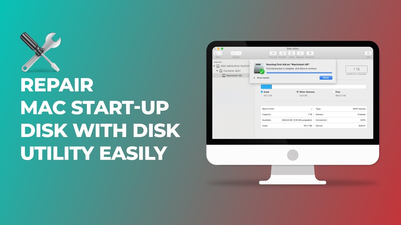 Repair Mac Start-up Disk with Disk Utility Application Easily