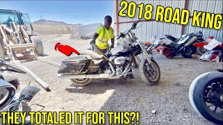 I WON THIS 2018 ROAD KING FROM COPART!