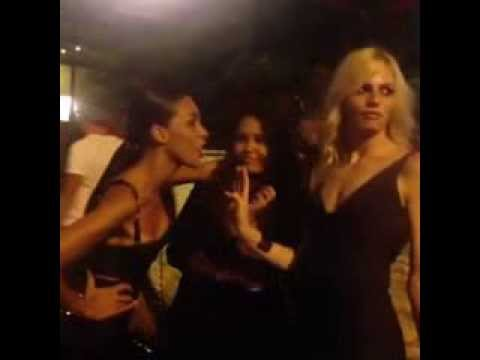B***h you better work... Ines Rau singing, Andrej Pejic dancing in Monte Carlo